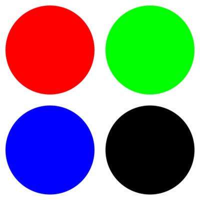 Circles drawn with antialiasing, with a delta of 0.01